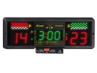 Официальный аппарат FIE для соревнований на три вида оружия (с индикацией времени и счетом) с чипом, соответствующим правилам FIE рапира / сабля 2005 г. В комплекте с блоком питания, с пультом ДУ, чехлом. Favero